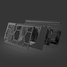 AV Audio Video Equipment Closet Room Cabinet Cooling Fans