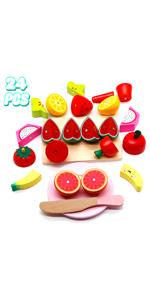Obst Gemüse Lebensmittel Holzspielzeug