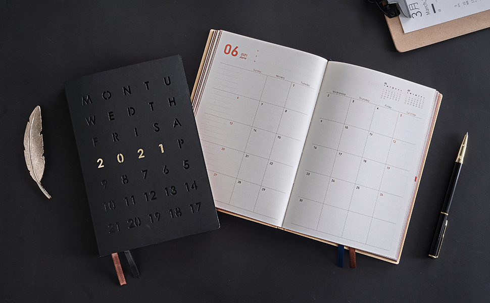 2020-2021 A5 Planner Notebook Monthly Weekly Diary Scheduler Work Journal  ~ ~