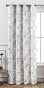 Ryan tree branch curtain 52 84 white black