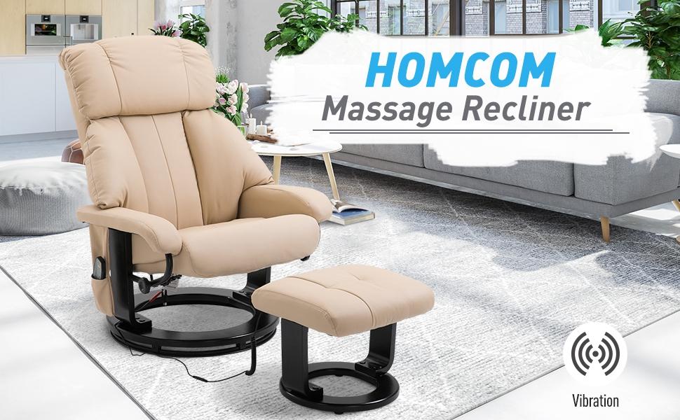 Massage Recliner Ottoman Set