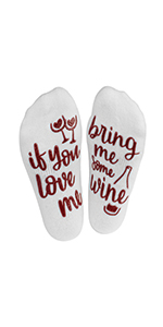 socks, wine, novelty, women, gift, love, funny, cute, ankle