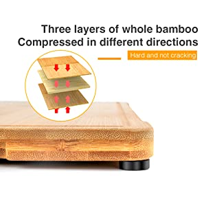 cutting board with 3 layers