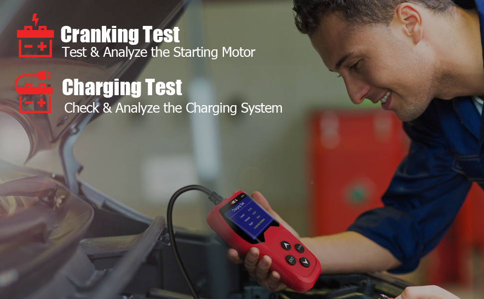 Ancel Ba201 Car 12v 100 2000 Cca Battery Charge Tester Car Starter Crank Generator Auto