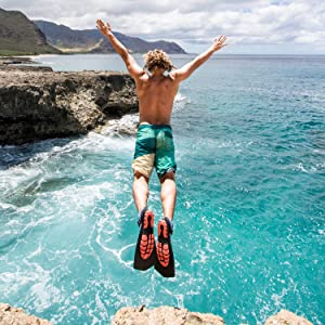 Women/'s 9-9.5 Topside Hydro Fins Snorkel Flippers Wildhorn Men/'s 9 Manta Ray