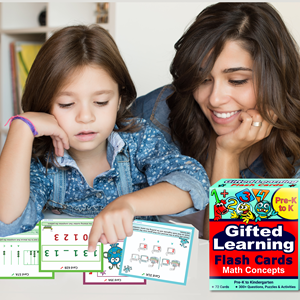 Math Concepts Pre-K to K Flash Card Testing Mom