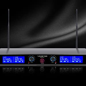NESO-F4 Series Professional UHF Rack Mountable Wireless Microphone System - Interference Free
