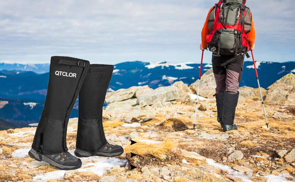 Jeelet Polainas Impermeable Transpirable para Monta/ña Nieve Senderismo Caza Trekking Esqu/í Escalada 1 par