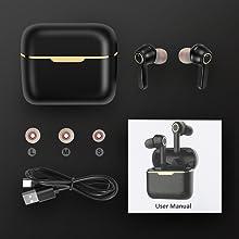 bluetooth wireless earbuds running