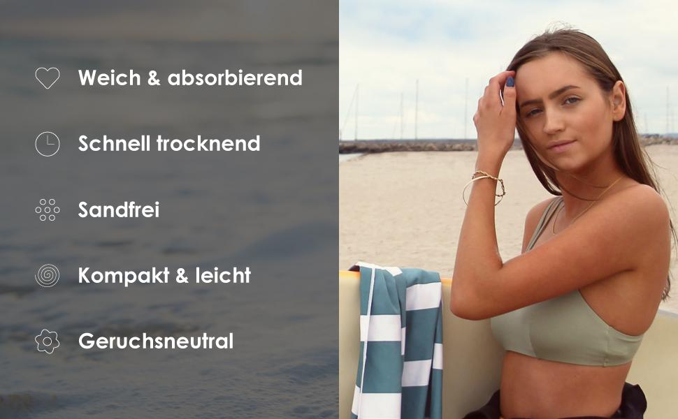 Multifunktionshandtuch handtuch gestreift travel towel stylischen badetuch farbenfrohen Sonnenliege