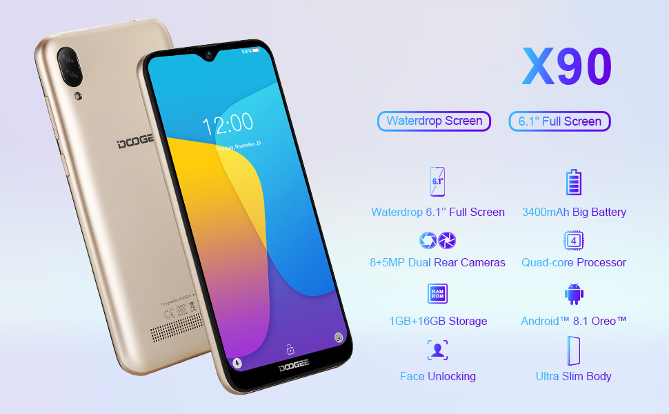 DOOGEE X90 Telefono Movil Libres 3G, Android 8.1 Oreo Smartphones ...