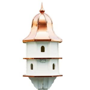 treated copper top amish american made bird-house