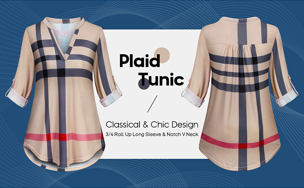 Misyula Style Plaid Tunic