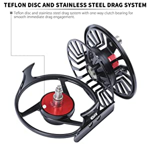 teflon disc and stainsteel drag system