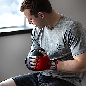Image of athlete preparing for training