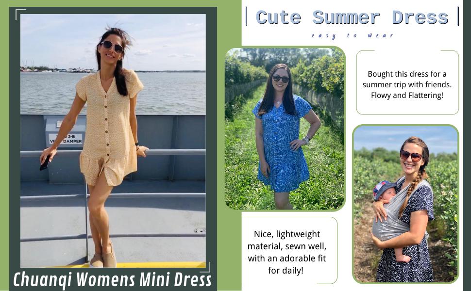 summer short dress casual dress for women