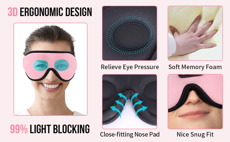sleep headphones Bluetooth headband sleepphones earbuds music mask unique birthday holiday gifts