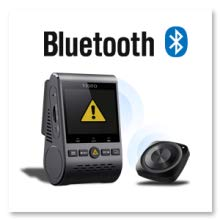 With the Bluetooth remote control (optional) mounted in a convenient location on your dashboard