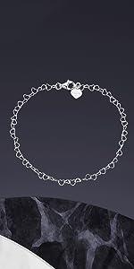 Bracciale a catena a cuore in argento