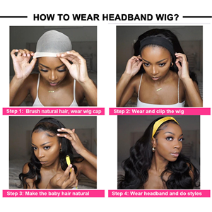 headhand body wave none lace wig