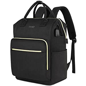 YTONET Backpack for Women, RFID Anti-Theft Business Travel Backpack with USB Charging Port, Water Resistant.