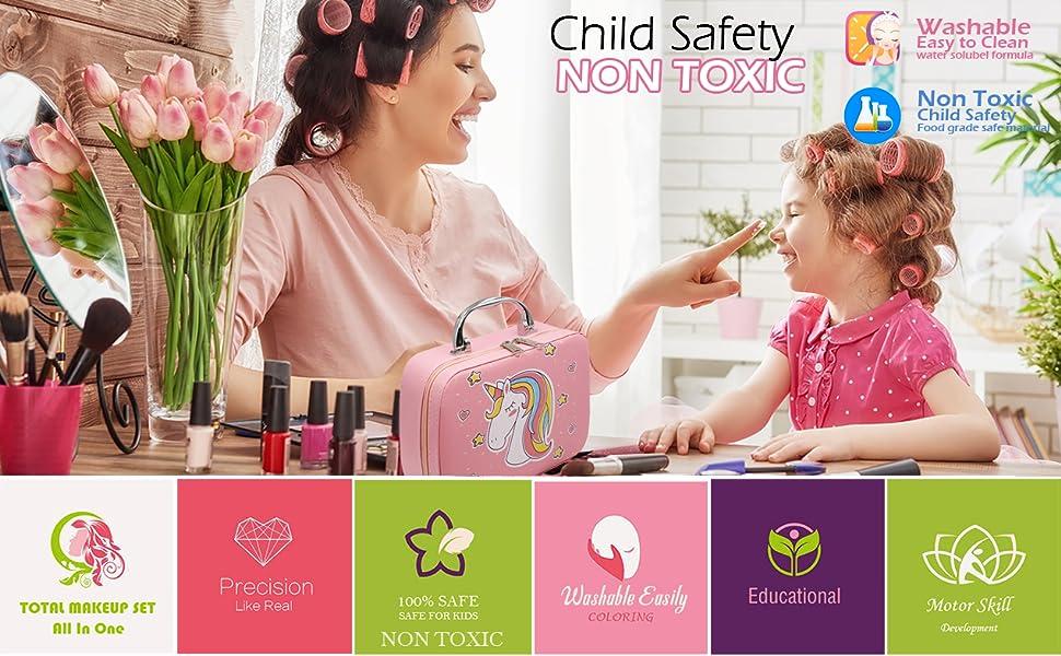 Kids Makeup kit for Girl - Kid Makeup Set for Toddlers,Washable Makeup Toy for Girls, Make up Kids