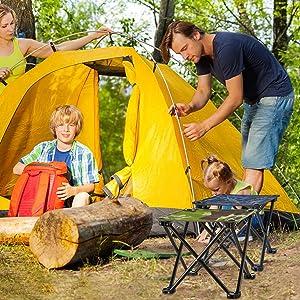 ClookYuan Silla Plegable al Aire Libre Silla Plegable Simple Mini Taburete Silla de Camping de Pesca port/átil Silla de Camping Durable-Blue