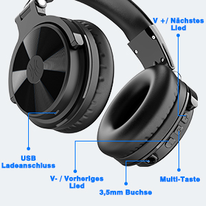 Bluetooth headphones with button