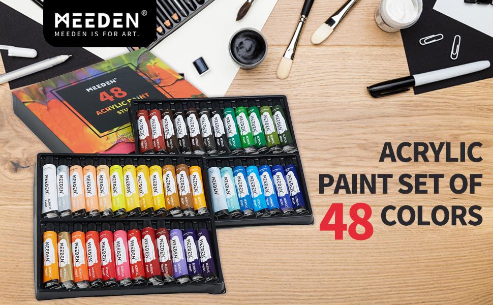 acrylic paint set of 48 colors