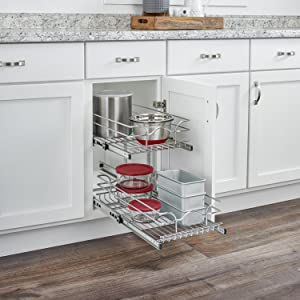 two-tier wire pull out basket