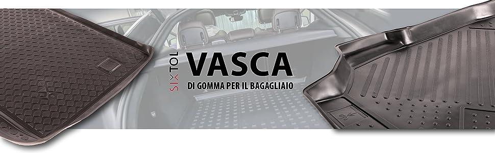 Protezione del Bagagliaio per l/'Automobile Kia Picanto II Vasca Anti-Scivolo e su Misura progettata per Il Trasporto Sicuro di Spesa,Bagagli e Animali Domestici SIXTOL