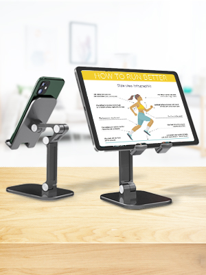 Cell Phone Stand for desk Adjustable Desk Phone Holder, Sturdy Stable Cradle Universal Tablet Dock