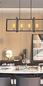 Pendant light fixture with 5 lights
