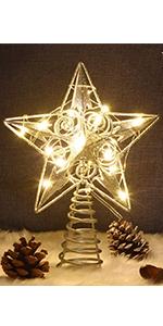 Star Christmas Tree Topper, Silver