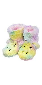 unicorn fuzzy slippers