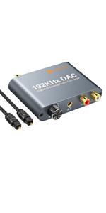 digital to analog audio converter, dac converter, digital to analog converter with volume control