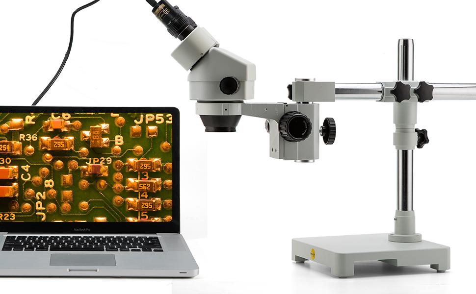 SWIFT 3,5X-90X Vergr/ö/ßerung kontinuierliche Zoom Stereo-Mikroskop Mit WF10X Okular 0,7X-4,5X Zoom-objektiv Binokular Stereo Mikroskop mit 144-LED Ringlicht 0,5X and 2X Barlowlinsen