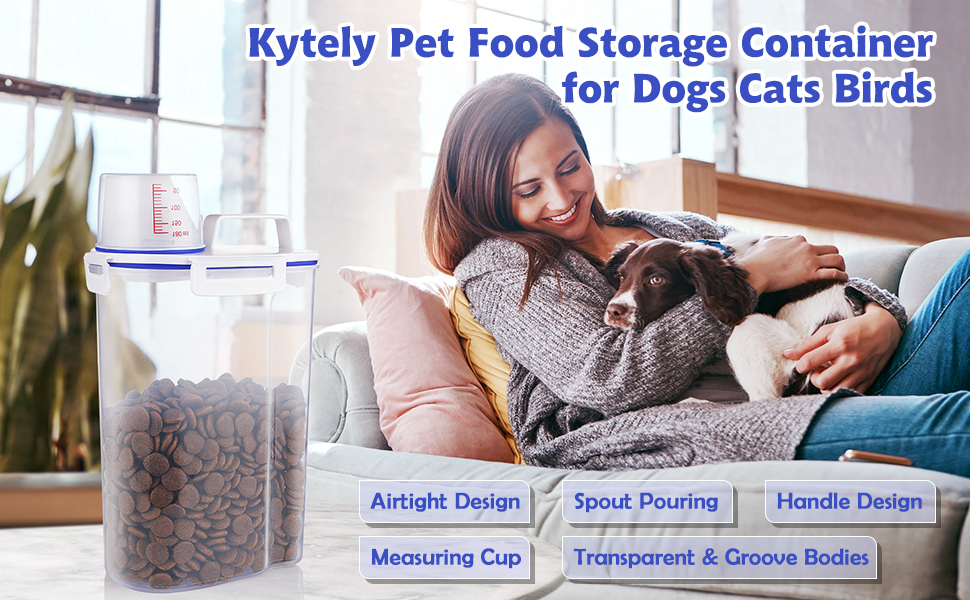 Pet Food Storage Container for Dogs Cats Small Animals