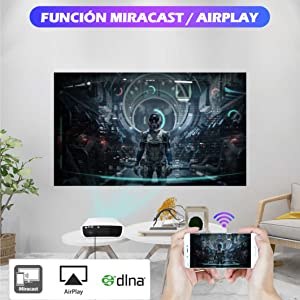 proyector con android, proyector con wifi, proyector 4k barato, proyector con zoom, proyector ps5