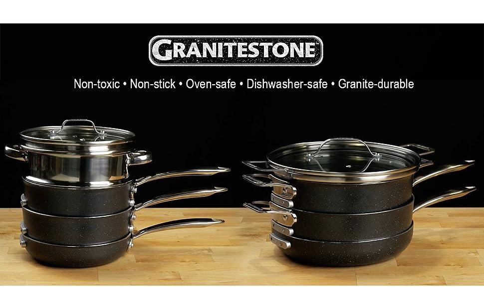 Header for Granitestone sets as seen on tv nonstick cookware