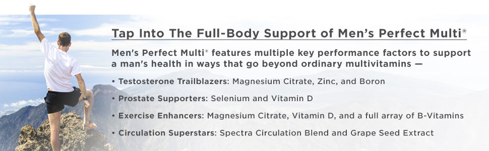 perfect Mens men's multi multivitamin for testosterone stamina vitamin b c d3 d purity products
