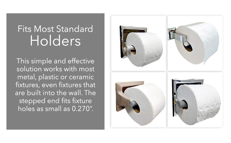 """fits standard holder metal plastic ceramic free standing built into wall stepped end fixture 0.27"""""""