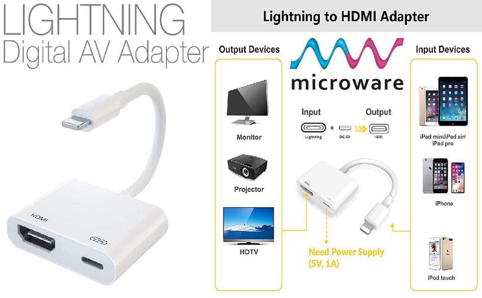 lightning to hdmi adapter