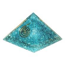 aquamarine orgone pendant