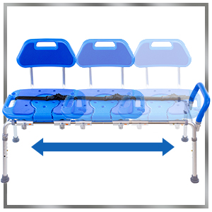 image showing sliding feature on hydroglyde shower bench