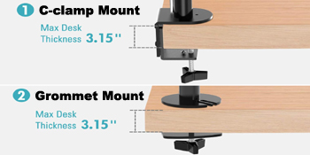 two mounting options