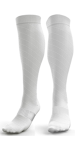 White Compression Socks for Women
