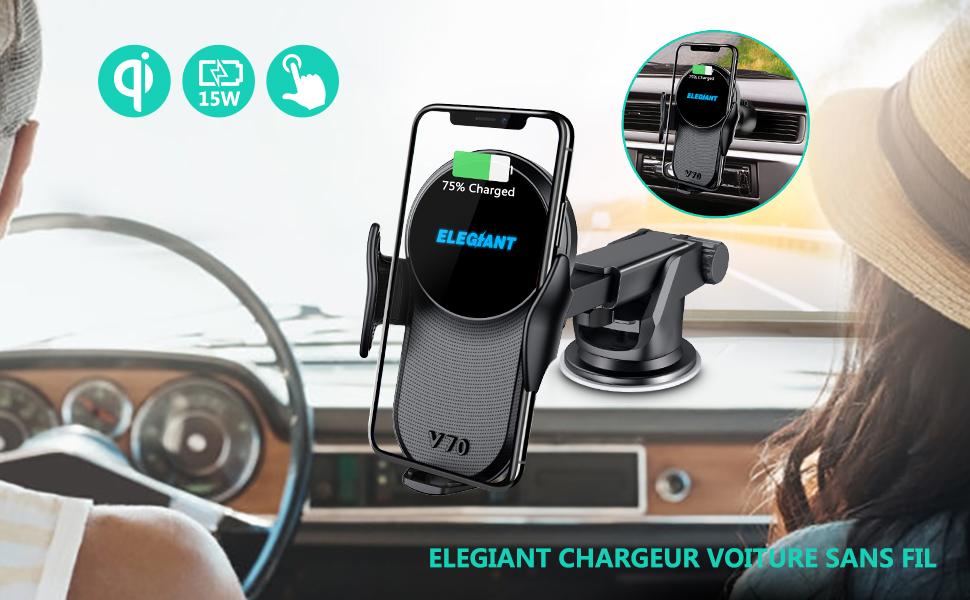 chargeur induction elegiant pour voiture