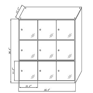 9 door metal locker