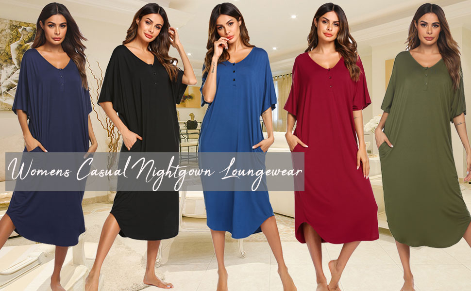ekouaer women sleep shirt nightshirt sleeping dress nightgowns sleepwear